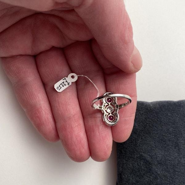 Ruby Diamond Ring in Platinum Date circa 1910  SHAPIRO & Co since1979 - image 7