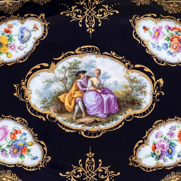 Meissen footed tray - image 3