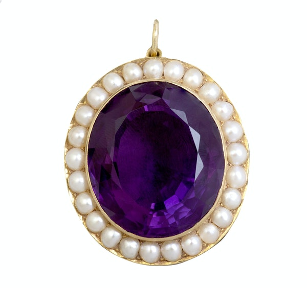 An Amethyst and Pearl Pendant - image 2