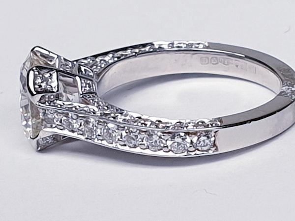 1.52ct old cut diamond engagement ring  DBGEMS - image 2