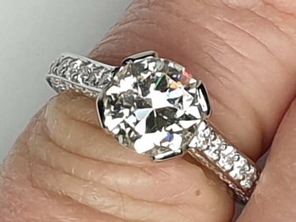 1.52ct old cut diamond engagement ring  DBGEMS - image 4