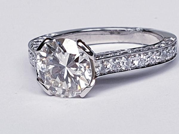 1.52ct old cut diamond engagement ring  DBGEMS - image 3