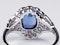 Geometric Sapphire & Diamond Engagement Ring  DBGEMS - image 3