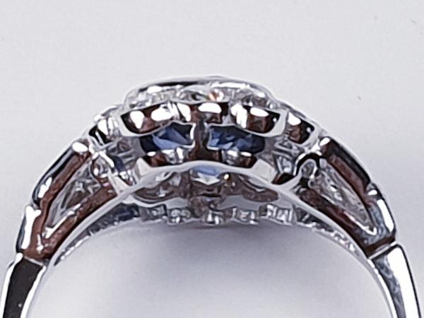Geometric Sapphire & Diamond Engagement Ring  DBGEMS - image 2