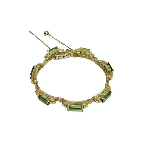 Retro Green Tourmaline  Bracelet - image 2