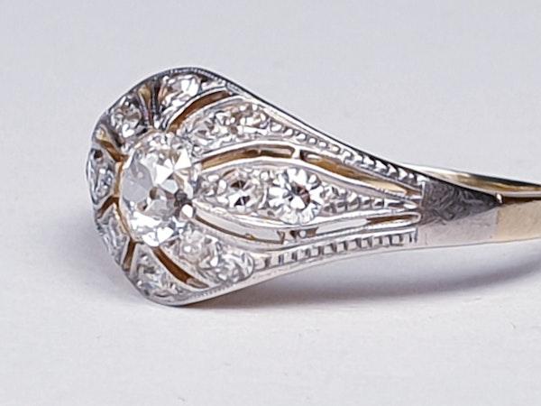 Edwardian Unique Diamond Engagement Ring  DBGEMS - image 4