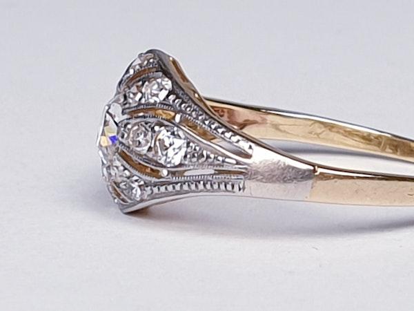 Edwardian Unique Diamond Engagement Ring  DBGEMS - image 3