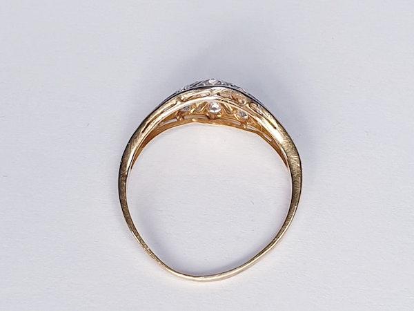 Edwardian Unique Diamond Engagement Ring  DBGEMS - image 6