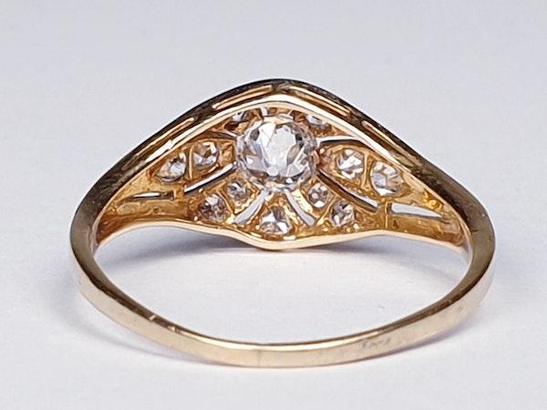 Edwardian Unique Diamond Engagement Ring  DBGEMS - image 2