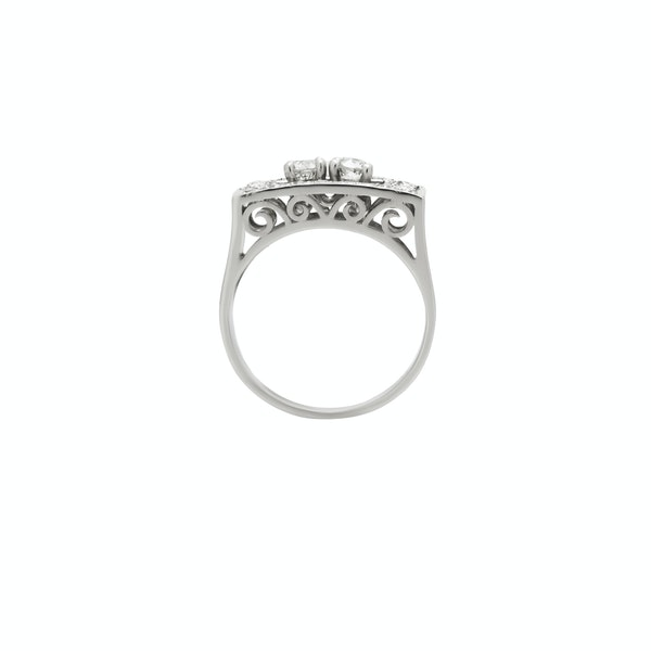 Chic Deco Diamond Ring - image 2