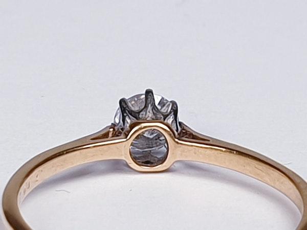 Antique Diamond Solitaire Engagement Ring 2180   DBGEMS - image 2