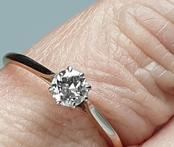 Antique Diamond Solitaire Engagement Ring 2180   DBGEMS - image 5