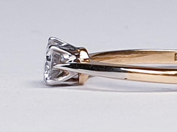 Antique Diamond Solitaire Engagement Ring 2180   DBGEMS - image 3
