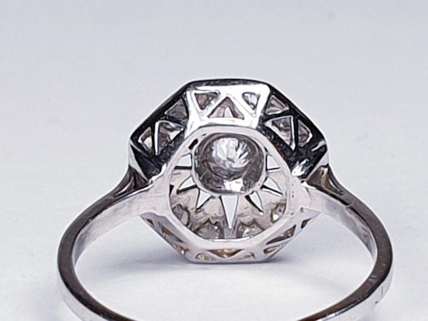 Art Deco Hexagonal Diamond Engagement Ring  DBGEMS - image 4