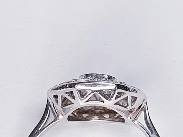 Art Deco Hexagonal Diamond Engagement Ring  DBGEMS - image 2