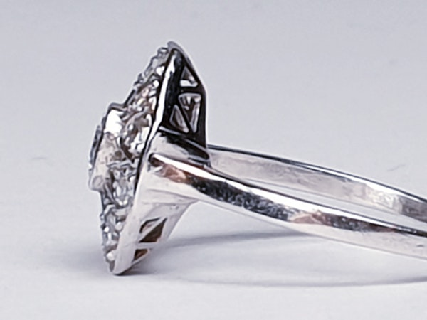 Art Deco Hexagonal Diamond Engagement Ring  DBGEMS - image 5