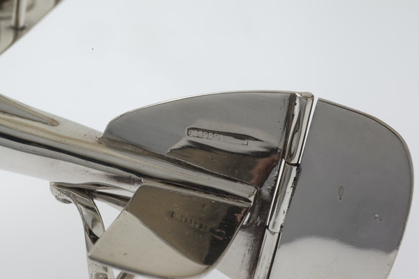 Fabulous Silver Plated Novelty Egg Cup holder in the shape of a biplane - image 6