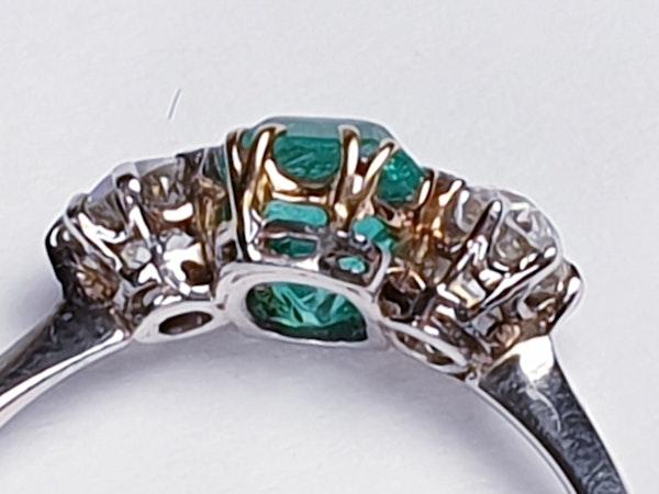 Art Deco Emerald and Diamond Ring  DBGEMS - image 3