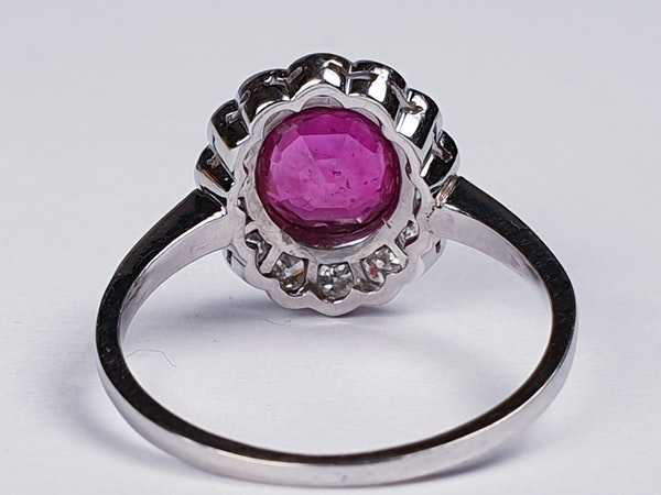 Burmese Ruby and Diamond Cluster Ring  DBGEMS - image 4
