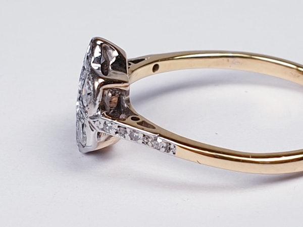 Edwardian Diamond Cluster Ring with Diamond Shoulders  DBGEMS - image 4