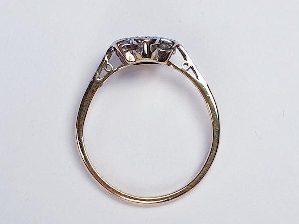 Edwardian Diamond Cluster Ring with Diamond Shoulders  DBGEMS - image 2