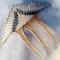 An Art Deco Blue Angel Bird Hair Comb - image 1