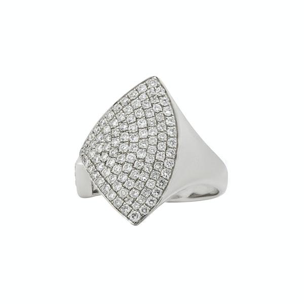 New Art Deco style diamonds ring - image 2