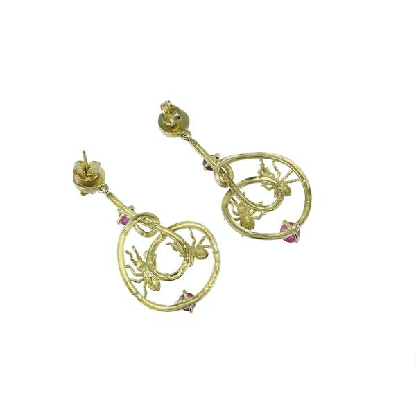 Pair of gem set 'Ant Design' Earrings - image 2