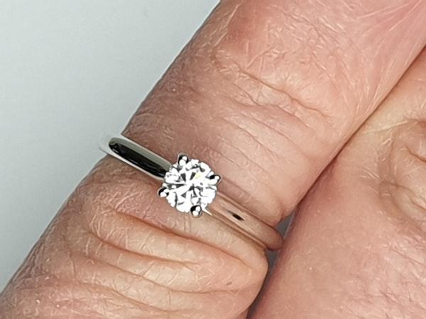Cartier diamond engagement ring  DBGEMS - image 5