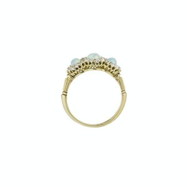 Victorian Opal & Diamond Ring - image 2