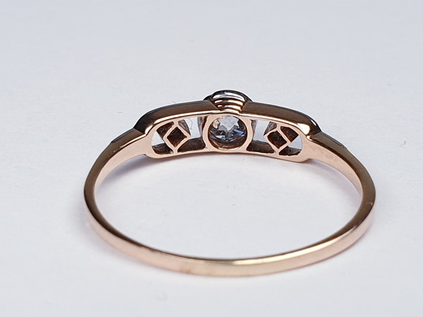 Edwardian Diamond Engagement Ring  DBGEMS - image 4