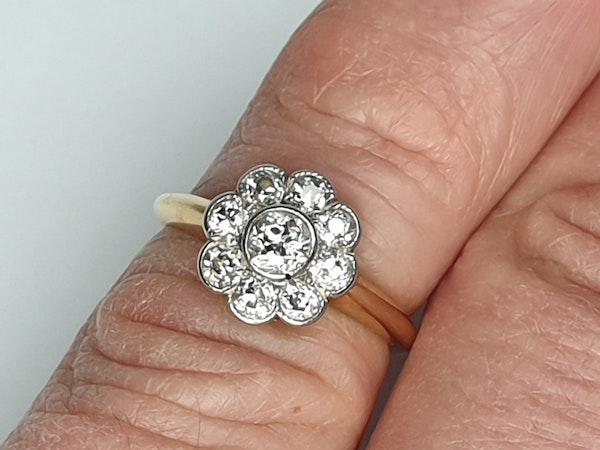 Edwardian Diamond Cluster Engagement Ring  DBGEMS - image 4