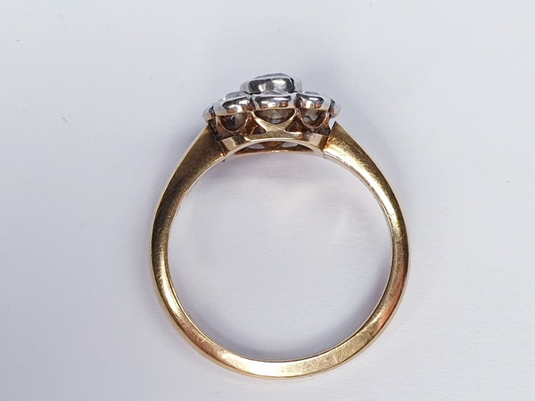 Edwardian Diamond Cluster Engagement Ring  DBGEMS - image 2