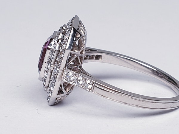 Pink Spinel and Diamond Ring  DBGEMS - image 4