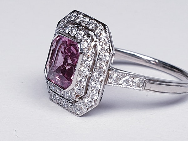 Pink Spinel and Diamond Ring  DBGEMS - image 2