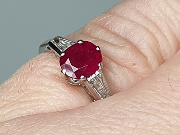 Ruby and diamond engagement ring  DBGEMS - image 6