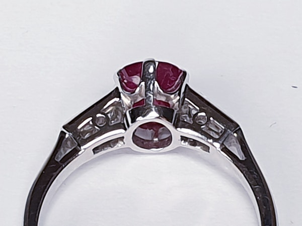 Ruby and diamond engagement ring  DBGEMS - image 5