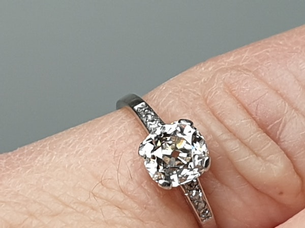1.03ct cushion cut diamond engagement ring  DBGEMS - image 5