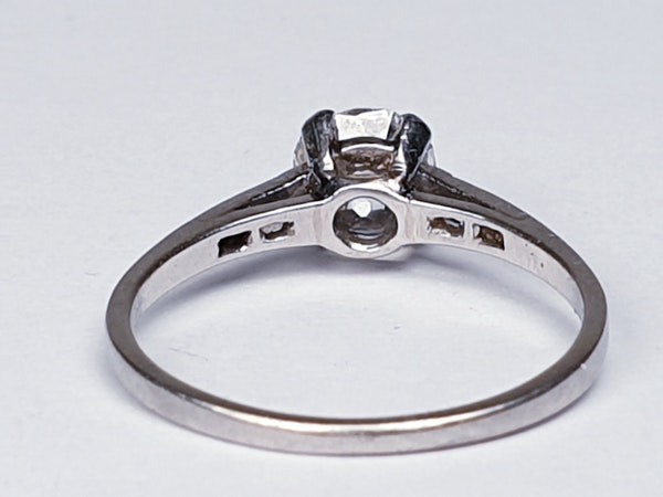 1.03ct cushion cut diamond engagement ring  DBGEMS - image 2
