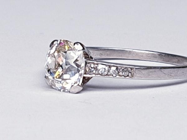1.03ct cushion cut diamond engagement ring  DBGEMS - image 4