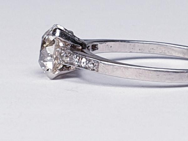 1.03ct cushion cut diamond engagement ring  DBGEMS - image 3
