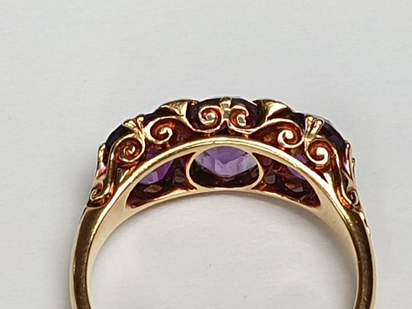 Victorian Amethyst and Rose Diamond Ring  DBGEMS - image 5