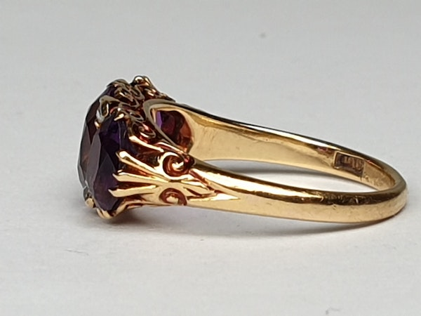 Victorian Amethyst and Rose Diamond Ring  DBGEMS - image 3