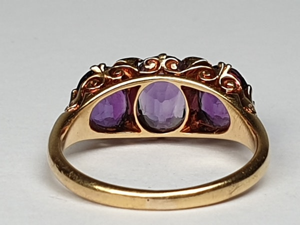 Victorian Amethyst and Rose Diamond Ring  DBGEMS - image 2
