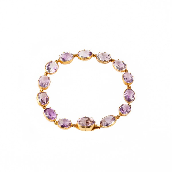 Victorian amethyst necklace and bracelet - image 2