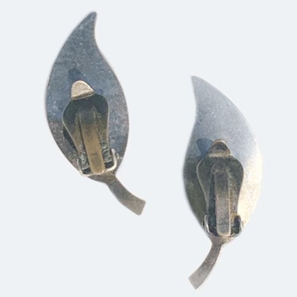 A pair of Enamel Clip Earrings by David Andersen - image 2
