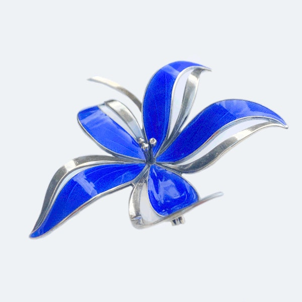 An Enamel Flower Brooch by Hroar Prydz - image 2