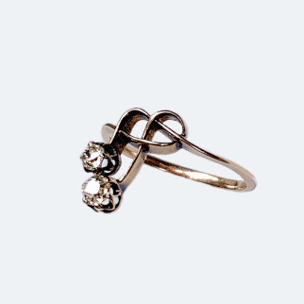A Russian Gold and Diamond Ring - image 2