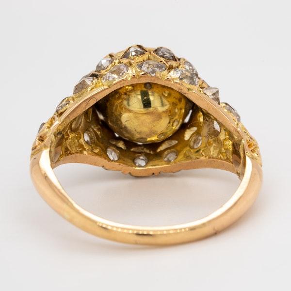 Antique rose cut  diamond cluster ring - image 4