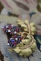 A very fine Ruby, Sapphire & Diamond Vine Brooch set in 18 carat White & Yellow Gold, Circa 1950 - image 2